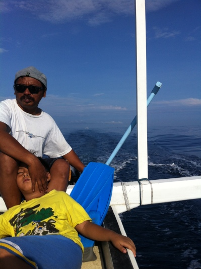 Bapak dan Wildan, our companies sailing away...