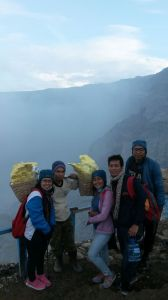 'Nother sight of Ijen crater with the miner